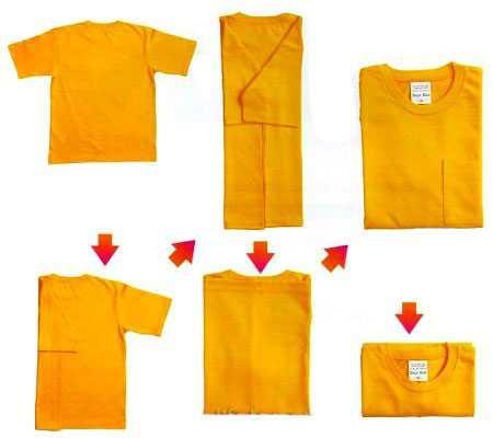Как сложить футболку и не помять