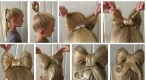 Причёски детские для девочек на длинные волосы: