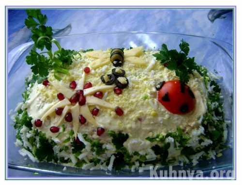 Рецепты салата с опятами и ветчиной, секреты