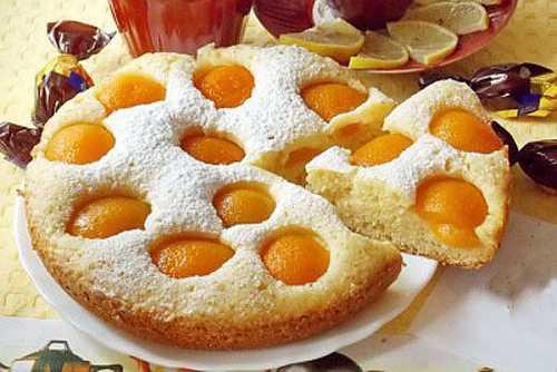 Рецепт  пирога с абрикосами в мультиварке,