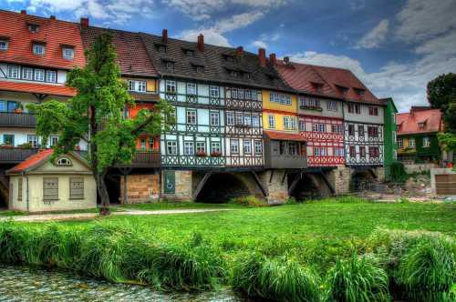 Необычный мост в Эрфурте