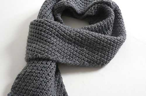 Подарок любимому своими руками - вяжем мужской шарф